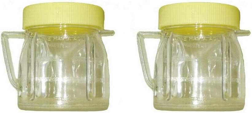 Univen 8 Oz Mini Blender Jars With Lid for Oster & Osterizer Blenders (2)