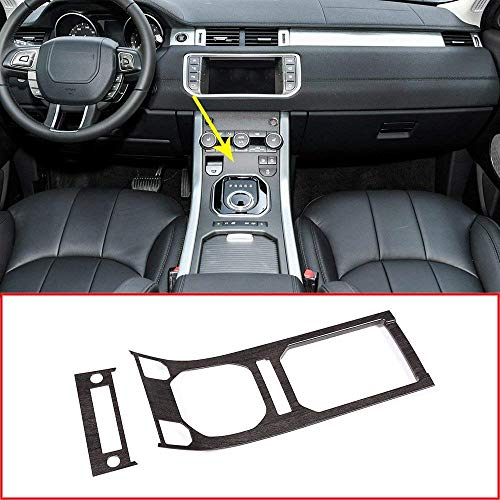 LLKUANG for Land Rover Range Rover Evoque 2012-2018 Accessories Center Console Gear Panel ABS Chrome Decorative Cover Trim (Oak Wood ()