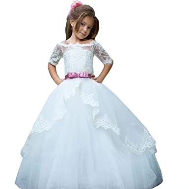 c11fd8345 Amazon.com  Angel Dress Shop A Line Princess Dresses for Girls Off ...