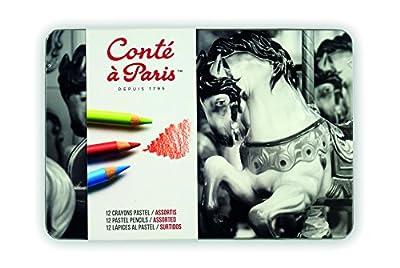 Conté à Paris Pastel Pencils with 12 Assorted Colors