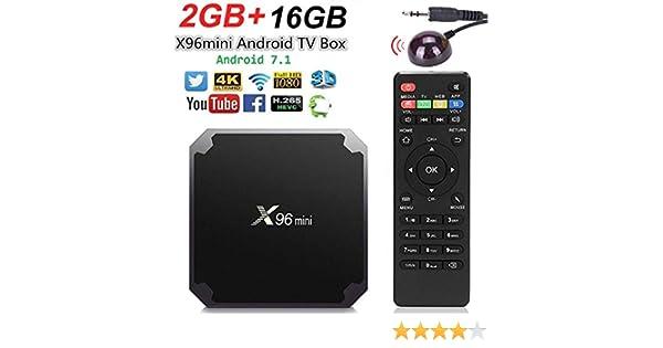 Smart TV Box Android X96 Mini 4K Android (2GB+16GB+Receptor IR): Amazon.es: Electrónica