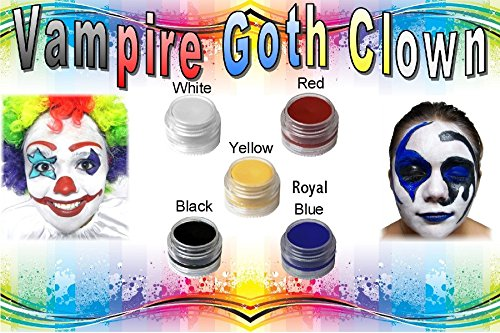 Elegant Minerals Face Paint Kit Vampire Goth Clown All Natural Non Toxic