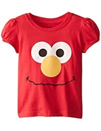 FREEZE Little Girls' Elmo Big Face Toddler Girl Short Sleeve Tee