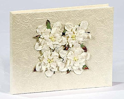 Beautiful Things Natural Mulberry SAA Paper Wedding Guest Book (Gardenias) by Beautiful Things