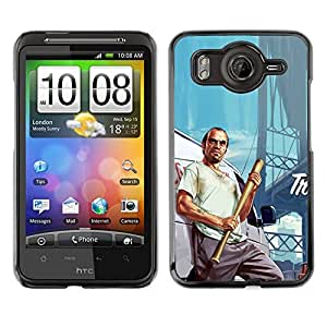 Caucho caso de Shell duro de la cubierta de accesorios de protección BY RAYDREAMMM - HTC G10 - G T A Trevor póster