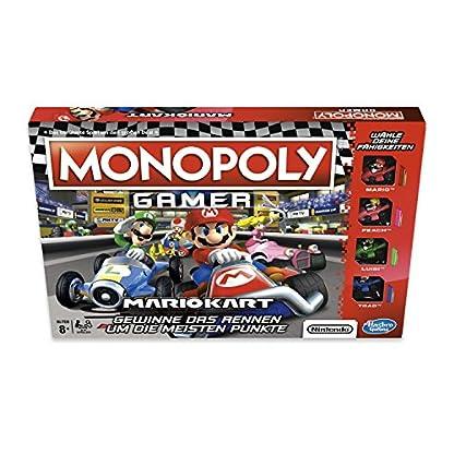 Monopoly Gamer Mario Kart, Gesellschaftsspiel für Erwachsene & Kinder, Familienspiel, der Klassiker der Brettspiele, Gemeinschaftsspiel für 2 - 4 Personen, ab 8 Jahren 3