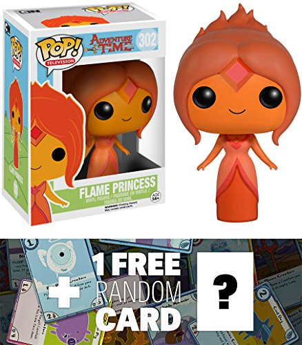 Flame Princess  Funko Pop  X Adventure Time Vinyl Figure   1 Free Official Adventure Time Trading Card Bundle  69766