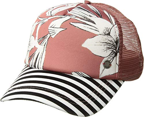 Roxy Junior's Water Come Down Trucker Hat, Withered Rose Lily House, One Size from Roxy