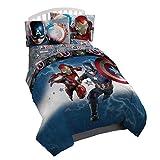 Marvel Captain America Civil War Twin Reversible Comforter (Renewed)