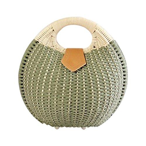 Nest Woman R Bags Tote Bag Beach Snail's Rattan Summer Women's SODIAL Handbag Handbag Bags Green Straw f1pwBEnq