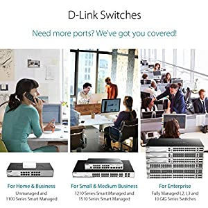 D-Link 5 Port Gigabit Unmanaged Desktop Switch, Plug and play, Fanless design, IEEE 802.3az Energy-Efficient Ethernet…