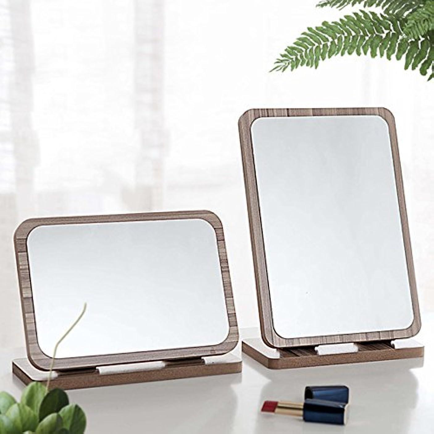 七面鳥精査するオーナーYZUEYT デスクトップ木製の化粧鏡3倍拡大180度回転ポータブルバニティバスルームメイクツール YZUEYT (Color : NO. 10#)