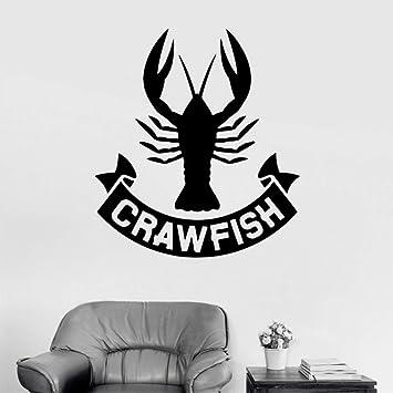 Cmhai Lobster Crawfish Wall Stickers Para Restaurante Creativo ...