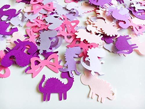Dinosaur Girl Confetti - Dinosaur Party Decorations - Confetti - Dinosaur Party - Dinosaur Party Decor - Dinosaur Birthday Party - 100 pcs