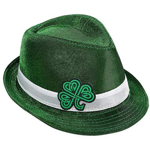 1f4710b581e Rhode Island Novelty Green Celtic Shamrock Fedora at Amazon Men s ...