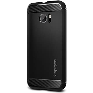 Spigen Rugged Armor HTC 10 Case with Resilient Shock Absorption and Carbon Fiber Design for HTC 10 2016 - Black