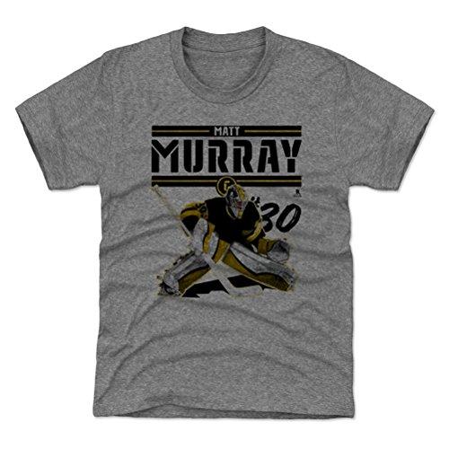 500 LEVEL Pittsburgh Hockey Youth Shirt - Kids Small (6-7Y) Tri Gray - Matt Murray Play K