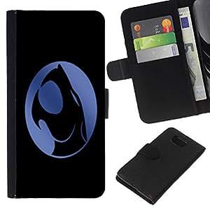 Crest - la tarjeta de Crédito Slots PU Funda de cuero Monedero caso cubierta de piel Samsung ALPHA G850