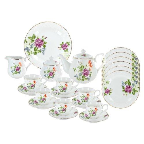 Summertime Flowers Deluxe Porcelain Tea Set