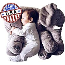 Made In America | Stuffed Animal Plush Toy | Gray Color | Extra Extra Large Size | Stuffed Animal Doll | (Grey)