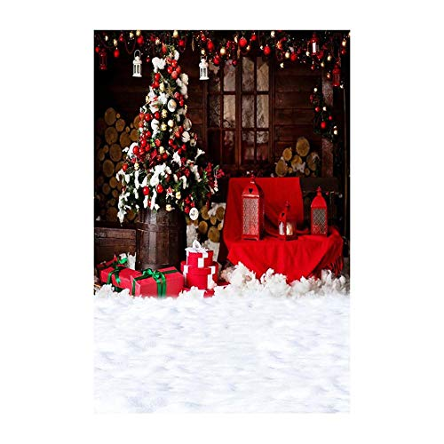 Background Decoration,Christmas Backdrops Decoration 3D Sticker Photography Studio Background (A)]()