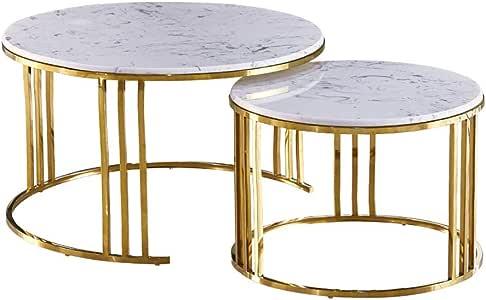 Elegant Iron Nesting Tables, Set of 2 | Antique Farmhouse