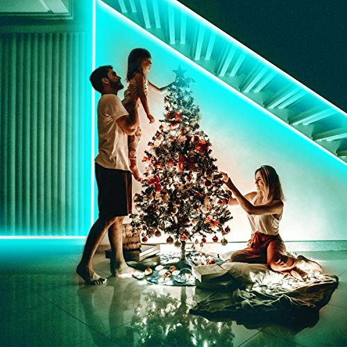 Led Strip Lights,32.8ft with 44-Key IR Controller and 12V Power Supply Flexible Color Changing 5050 RGB 300 LEDs Light Strips Kits for Bedroom,Room,Kitchen,Ceiling,DIY,Christmas Decoration
