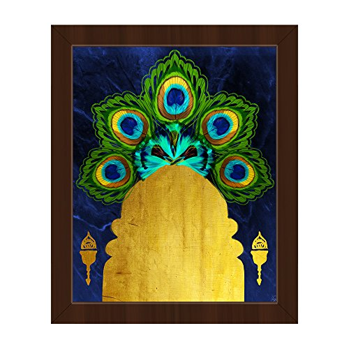 Royal Peacock Door: Moroccan art  Illustration