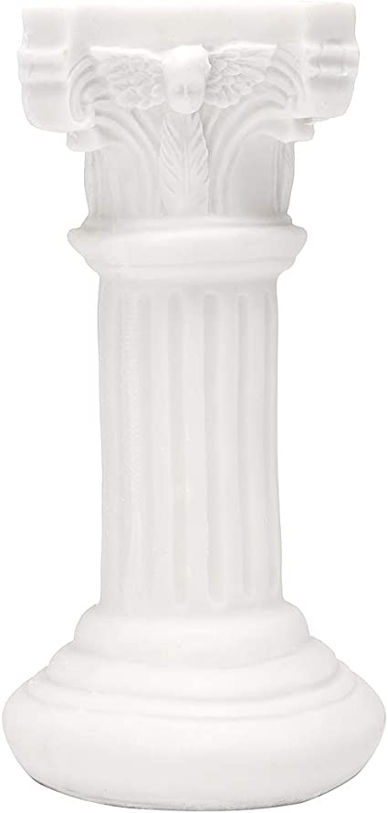 Hvlystory Figura Decorativa de Columna Griega de Resina para Mesa de Boda