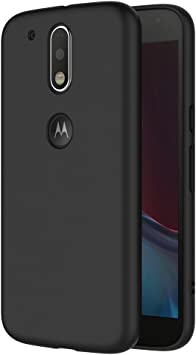 AICEK Funda Motorola Moto G4 / G4 Plus, Negro Silicona Fundas ...