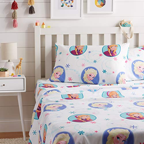 AmazonBasics by Disney Frozen Swirl Bed Sheet Set, Full (Full Disney Sheets)