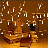 Uping 100 LED Globe Fairy Lights | 33FT Decoration String Lights with 8 Modes | Twinkle Lights Suitable for Indoor Outdoor | warm white