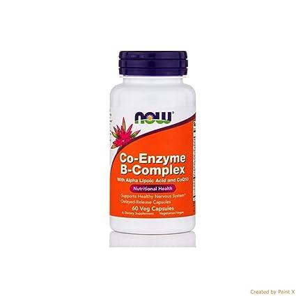 NOW Foods - Coenzima del complejo B 500 mg. - 60 cápsulas vegetarianas