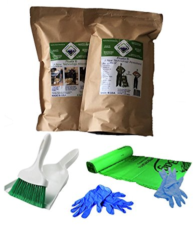 Floatix Mini-Spill Kit with Multipurpose Absorbent Powder | Eco-Friendly Multipurpose Oil & Chemical Spill Absorbent for the Heaviest Spills - 2 Gallon Zip Seal Bag (Chemical Spill Kits)