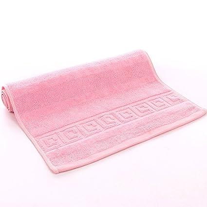 mmynl Pixel Color Fluffy toallas de algodón de 35 * 75 cm rosa