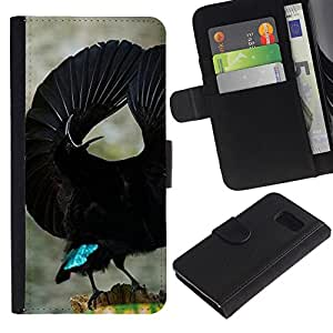 All Phone Most Case / Oferta Especial Cáscara Funda de cuero Monedero Cubierta de proteccion Caso / Wallet Case for Sony Xperia Z3 Compact // pájaro tropical negro ornitología vuelo
