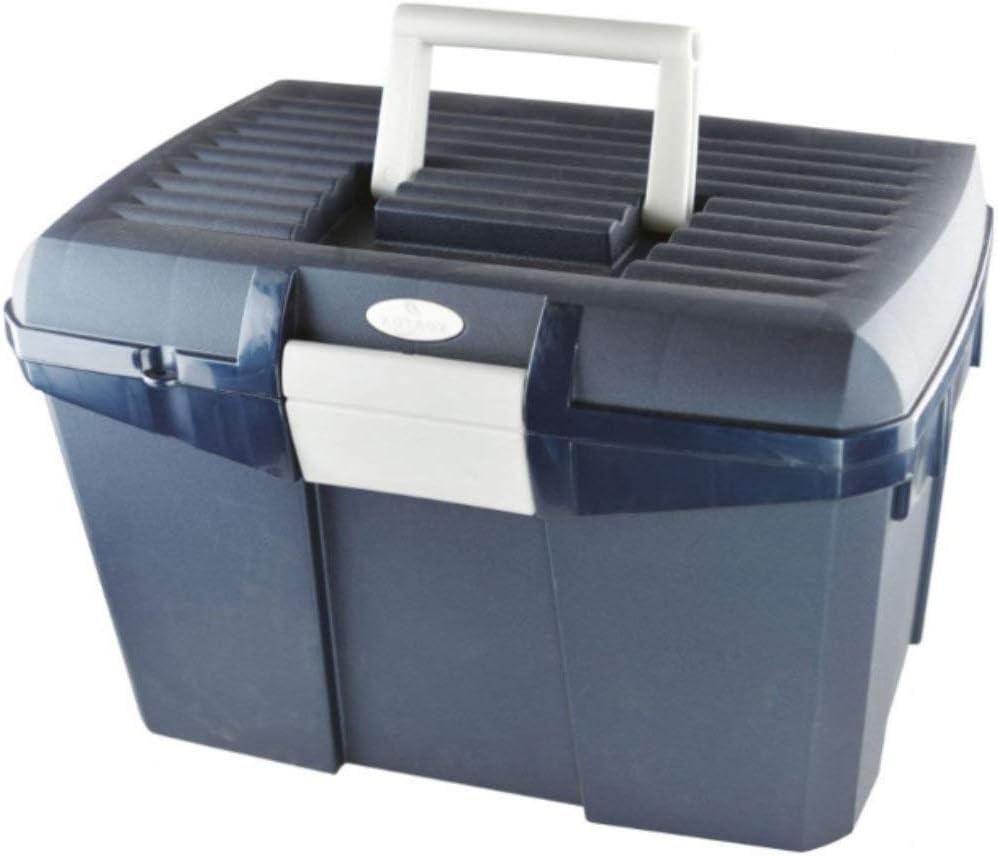 Amesbichler Putz Caja Norton, Color Azul Oscuro/Gris | Caja para pulir | Putz maletín |putzkasten