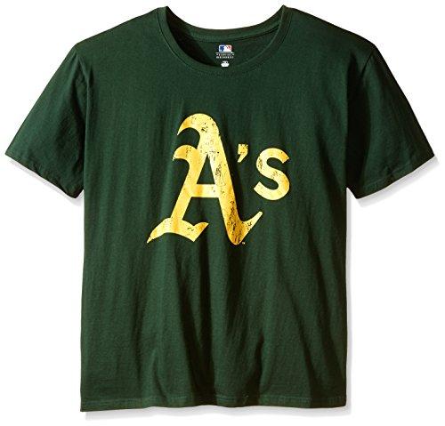 Sports Teams T-shirts (MLB Oakland Athletics Women's Short Sleeves Scoop Neck Top, 2X, Dark Green)