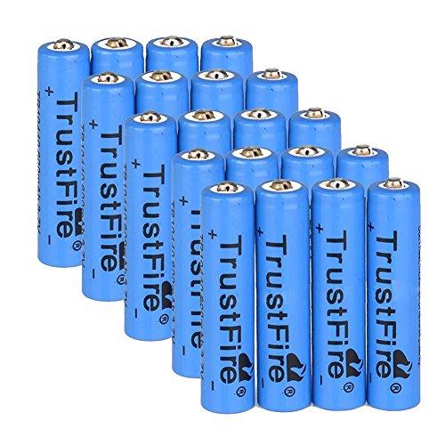 Rechargeable Li-ion Battery - TrustFire 20PCS AAA 600mAh 3.7V Rechargeable Li-ion Battery Blue