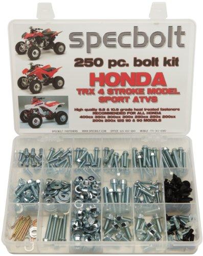 400ex Swing Arm (Specbolt Fasteners 250pc Maintenance Restoration OE Spec Motorcycle Bolt Kit for Honda 400EX 250EX Quad TRX400EX TRX250X ATC TRX 350x 300ex 300x 250ex 250x 200sx 200s 200x 125cc 110cc TRX90)
