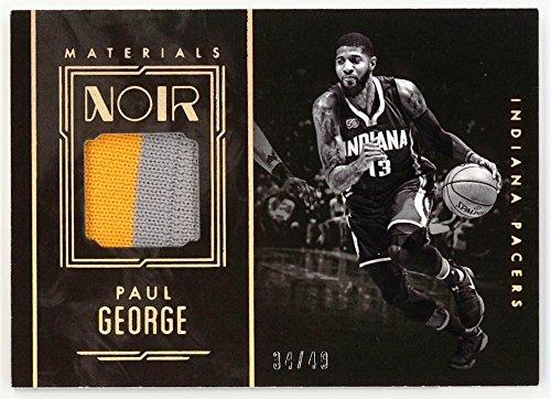 Paul George 2016-17 Panini Noir Materials Black and White Prime JSY #11 NM-MT MEM #34/49 Pacers Basketball NBA from Noir