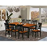 9 PC Table and chair set with a Table and 8 Dining Chairs in Black and Cherry
