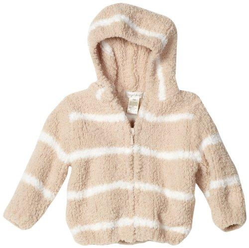 Chenille Hooded Jacket - Angel Dear Unisex Baby Striped Chenille Hooded Jacket, Taupe/Ivory, 18 24 Months