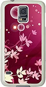 Flower Galaxy S5 Case, Galaxy S5 Cases - Compatible With Samsung Galaxy S5 SV i9600 - Samsung Galaxy S5 Case Durable Protective Case for White Cover