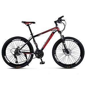 51uQnqhzT4L. SS300 KTYX Biciclette per Adulti, Biciclette A velocità Variabile, 21-velocità 26 Pollici Parlato Ruote, Fuoristrada Biciclette velocità Variabile, Biciclette Ammortizzanti,Black Red