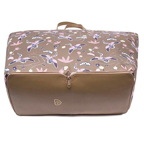 The-Lovely-Tote-Co-Womens-Cranes-Print-Portable-Shopper-Bag