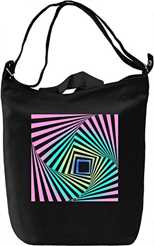 Illusion Of Wavy Rotation Movement Borsa Giornaliera Canvas Canvas Day Bag| 100% Premium Cotton Canvas| DTG Printing|