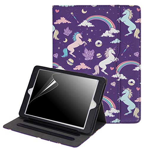 HDE 6th Generation iPad Cases - iPad 2018 Case (9.7 Inch) Cover for Apple iPad 2018 (6th Gen) iPad 2017 (5th Gen) -Unicorns & Rainbows
