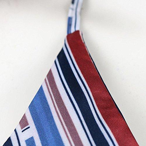 a e Camicie Donne Boemia Camicetta Mecohe Camicia Donna Stampa Senza V Sexy alla Bluse Moda Maniche Collo Gilet Multicolore Righe BqEwx8A5