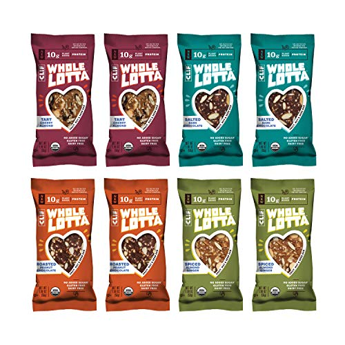 Clif Whole Lotta – Variety Pack – Organic Protein Bars, Fruit & Nut & Seed Bars – Gluten Free & Vegan Snacks (1.98 Ounce Protein Bars, 12 Count)